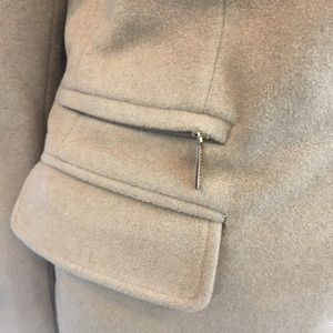 MICHAEL Michael Kors Jackets & Coats - MICHAEL MICHAEL KORS Tan Wool Blend Pea Coat
